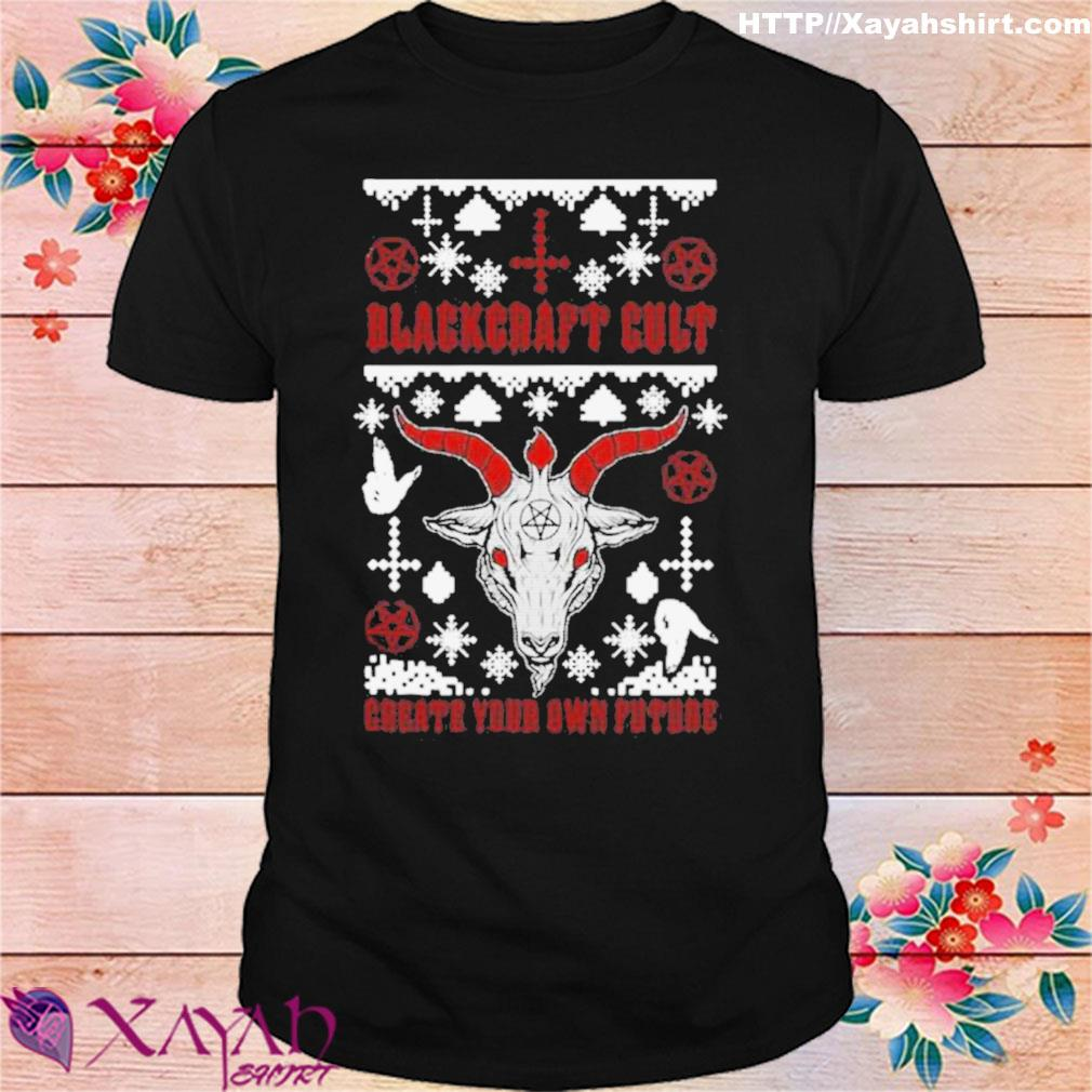 Official Blackcraft Cult Satan's Little Helper Ugly Christmas Shirt