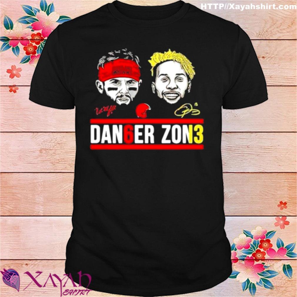 Cleveland Browns Dan6er Zon3 Signatures 2021 Shirt