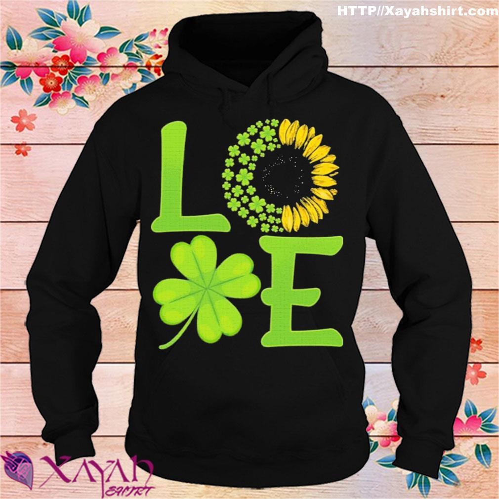 Official Happy Saint Paddy Sunflower Shamrock Gift Shirt hoodie