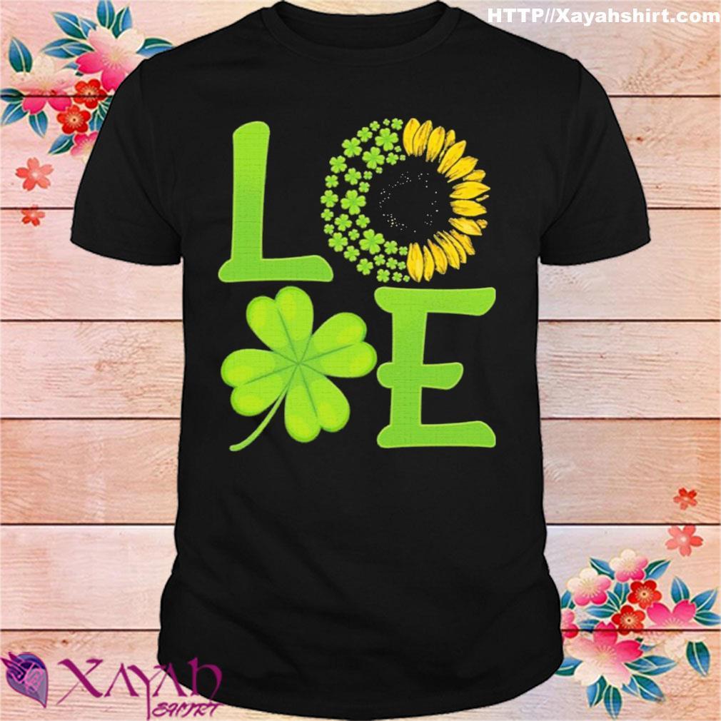 Official Happy Saint Paddy Sunflower Shamrock Gift Shirt