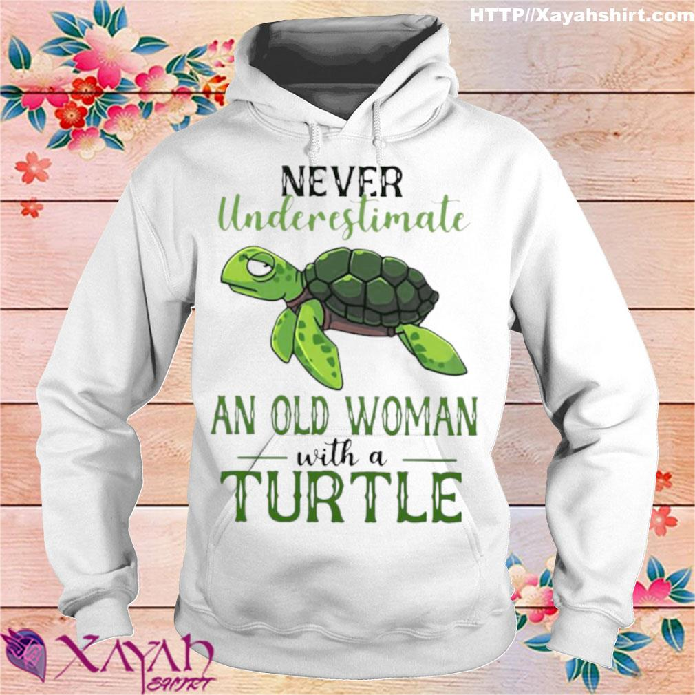 Official Never Underestimate An Old Woman With A Turtle Shirt hoodie
